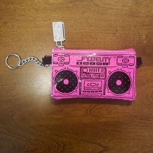 Fydelity Boombox Pink Speaker Coin Purse